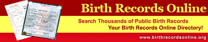 Birth Records Online - The Free Birth Records Directory