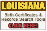 Louisiana birth record search tool